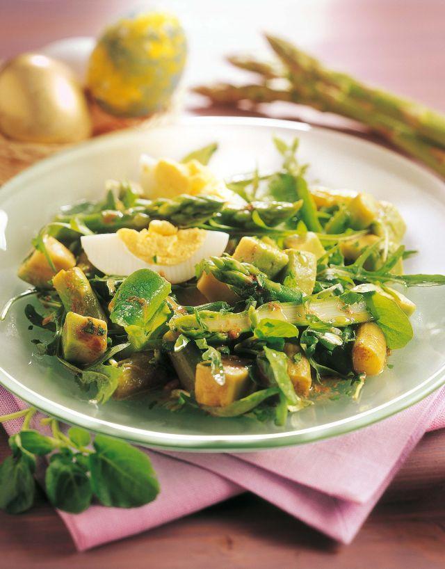 insalata avocado uova e rucola
