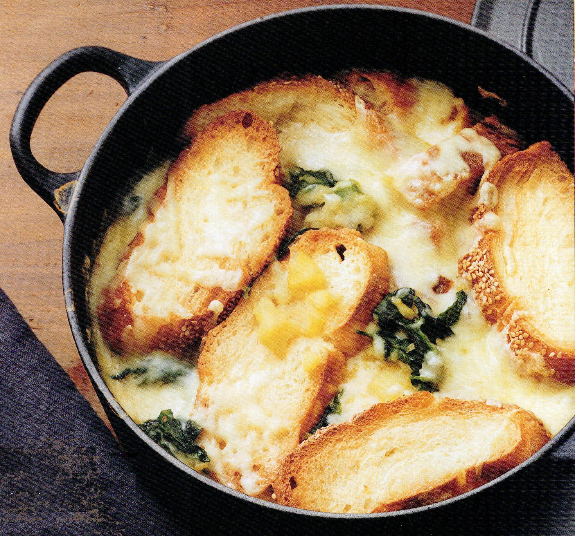 zuppa di cipolle e spinaci