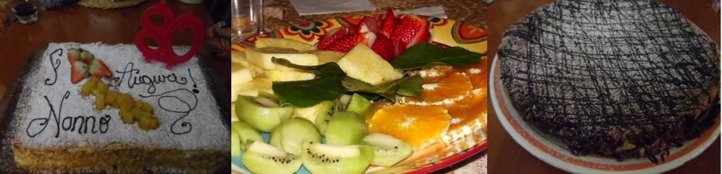 dolci e frutta