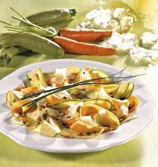 carpaccio di verdure e formaggio