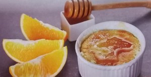 souffle all'arancia con gocce di miele
